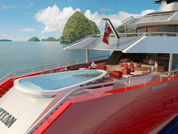 New Yacht Concept Aft Deck with a pool