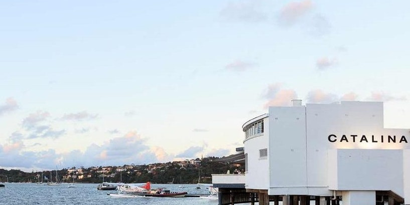 Dock and Dine at Catalina on Syndney Harbour's Eastern Bank