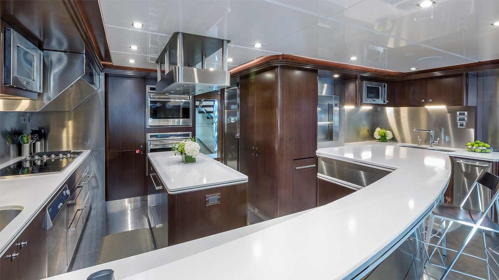 Yacht KING BABY Galley