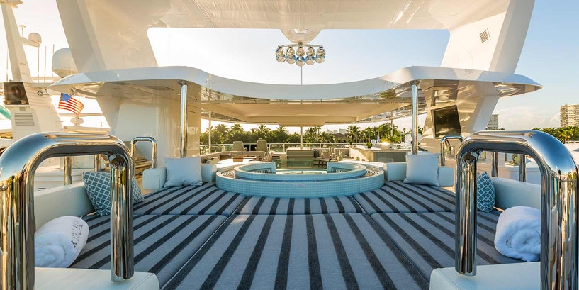 Superyacht Owner Adventures and 140 (42.7m) IAG luxury motor yacht King Baby