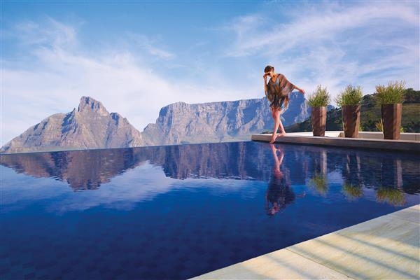 private luxury resort in Cape Town South Africa overlooking superyachts