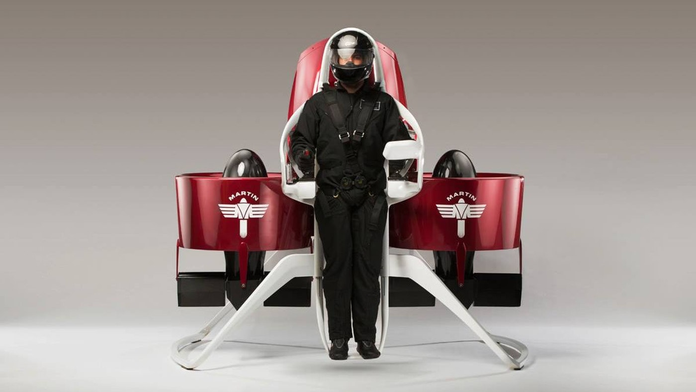 PERSONAL FLIGHT SOON MAY BE A REALITY WITH THE  MARTIN JETPACK