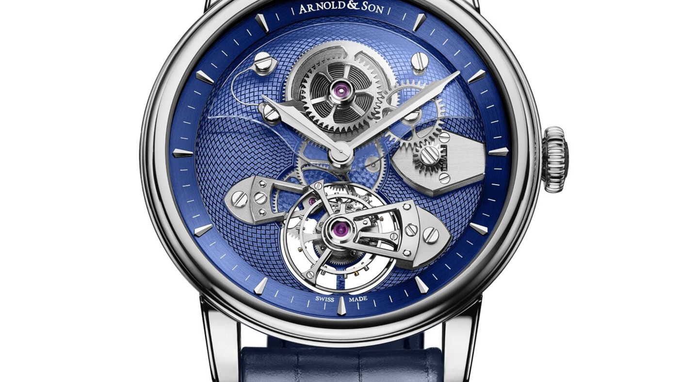 TES BLUE TOURBILLON BY ARNOLD & SON