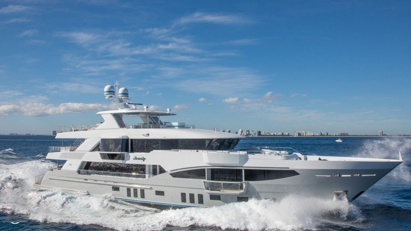 LUXURY YACHT SERENITY  NOW FOR CHARTER WITH NORTHROP & JOHNSON
