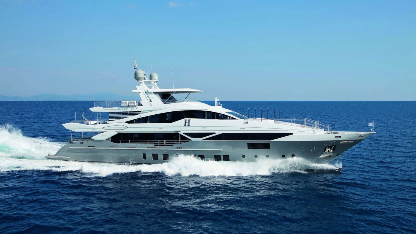LUXURY SUPERYACHT `H NOW FOR CHARTER