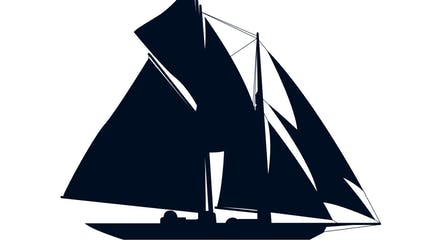 icon of classic sailing yacht for sale