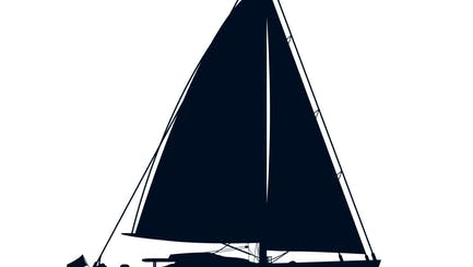 icon of sailing yacht for sale