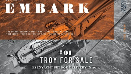 Embark main image featuring a sailing yacht for sale seen from above