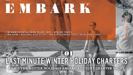 Main Embark image featuring a family on board a superyacht for charter