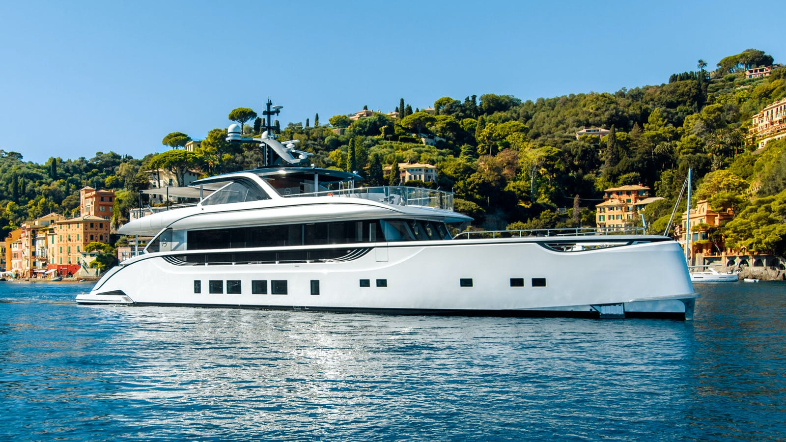 owner selling luxury superyacht at anchor in the Med