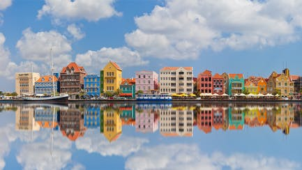 Curacao luxury yacht charter view of downtown Willemstad Netherlands Antilles