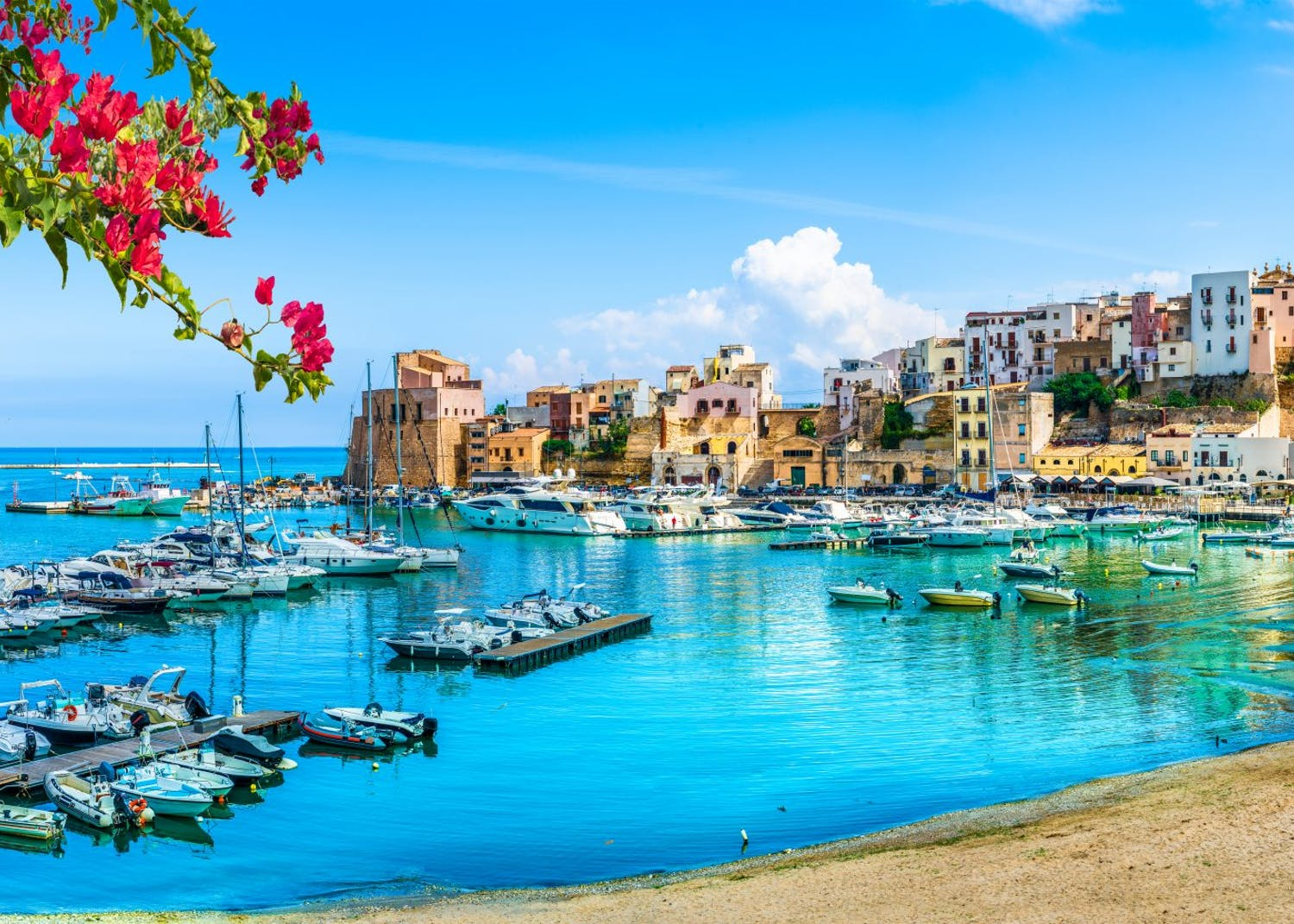 Southern Italy coastal view of Sicily yacht charters