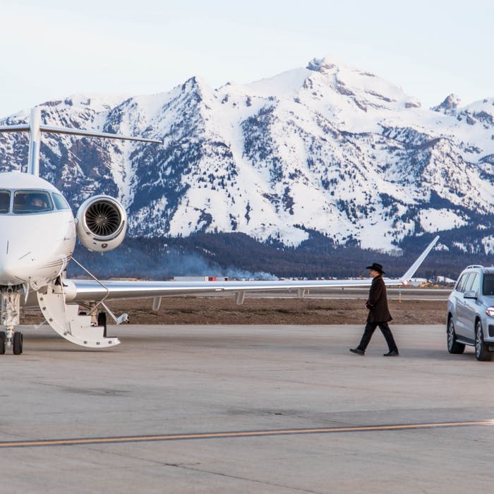 Arrive in style with NetJets