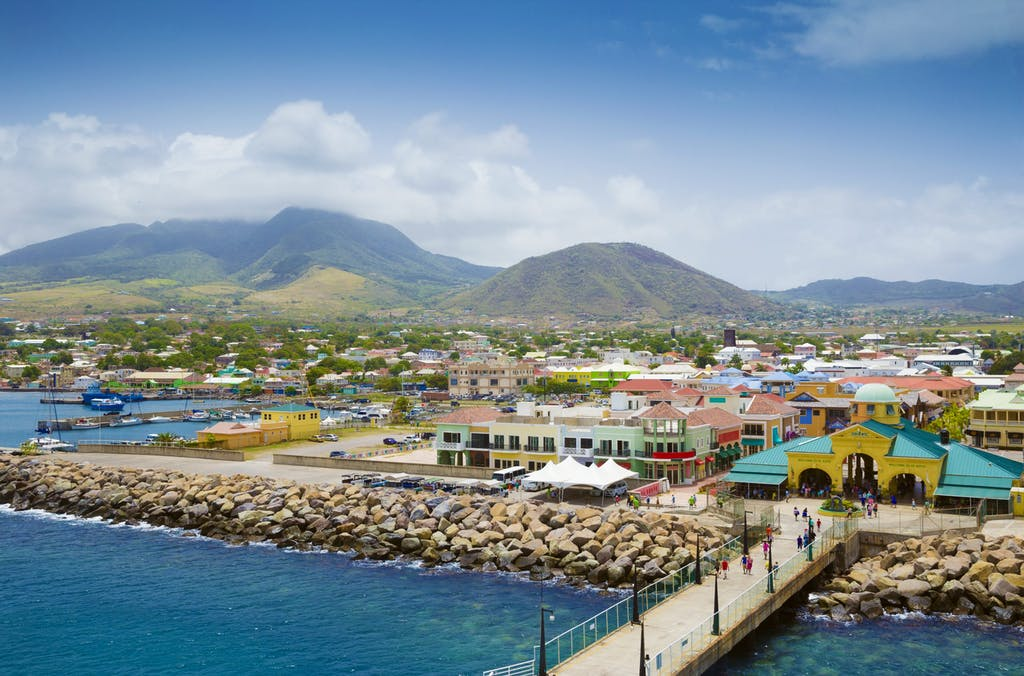 Port Zante and the Basseterre marina in St. Kitts