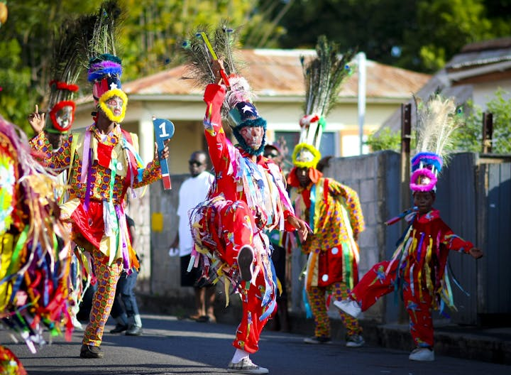 Masquerades can often be seen performing in Basseterre.