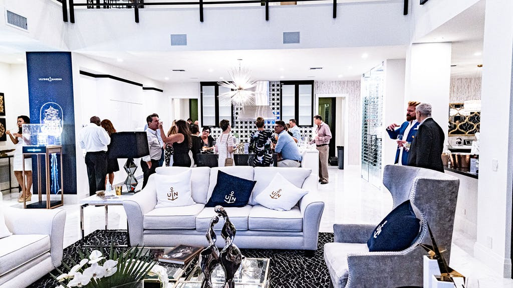 Beautiful modern house party