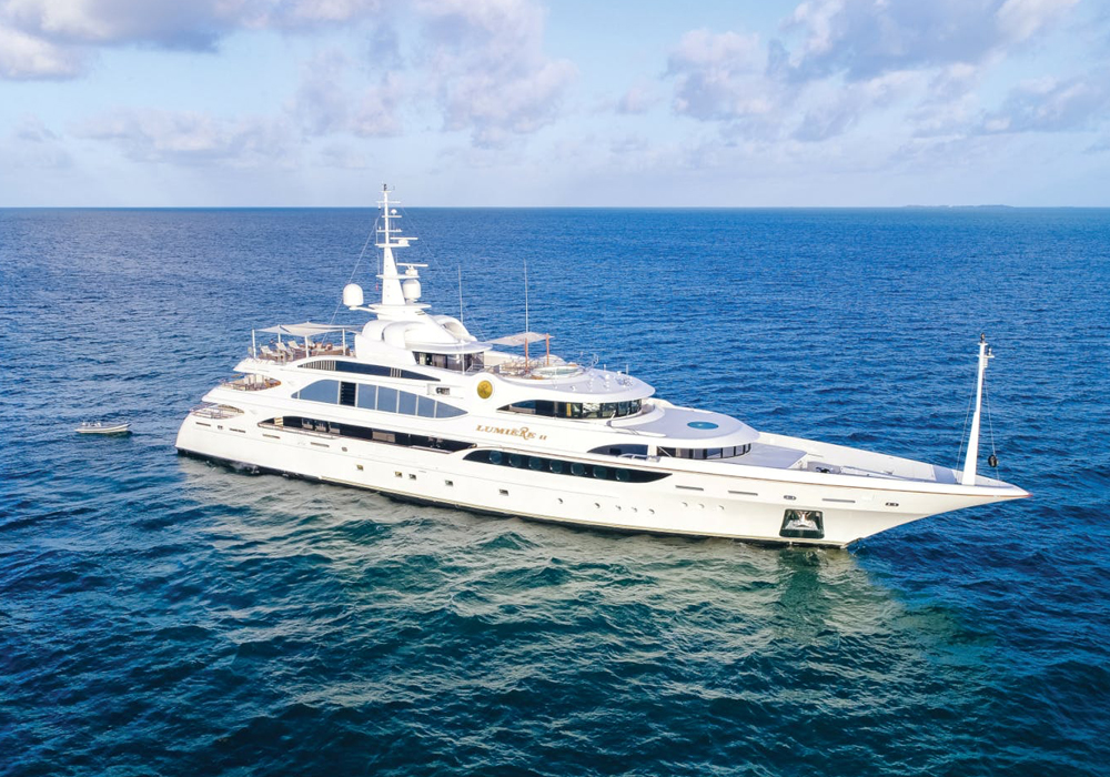 Charter yacht LUMIERE II in the Mediterranean