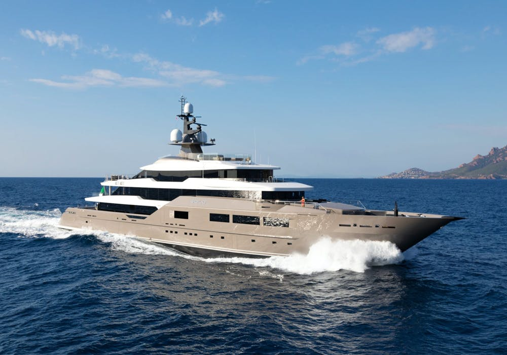 Superyacht SOLO running in the French Rivera
