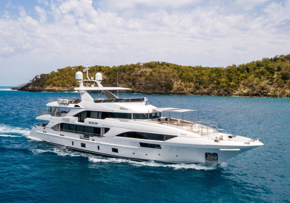 Yacht for charter WABASH cruising in the Caribbean