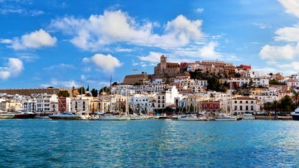 Spanish old town Ibiza yacht charters and private luxury villas