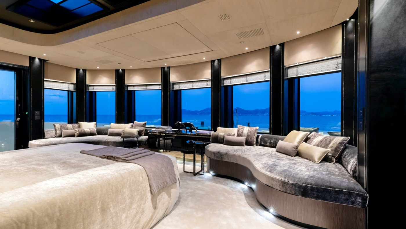Sleep well — unique luxury charter yacht staterooms