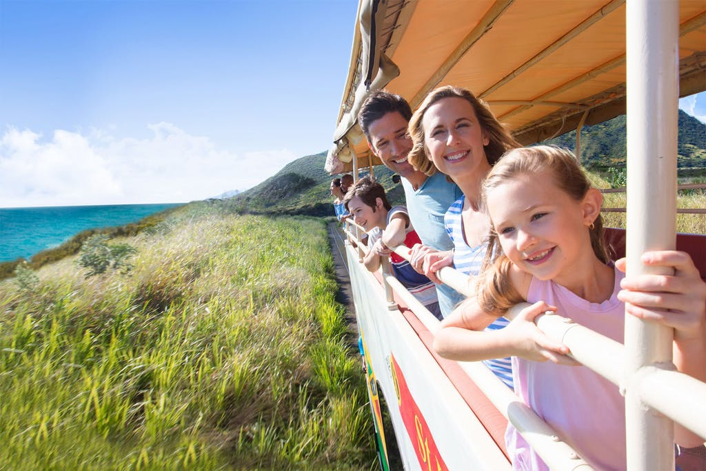 Take the family aboard the St. Kitts Scenic Railway