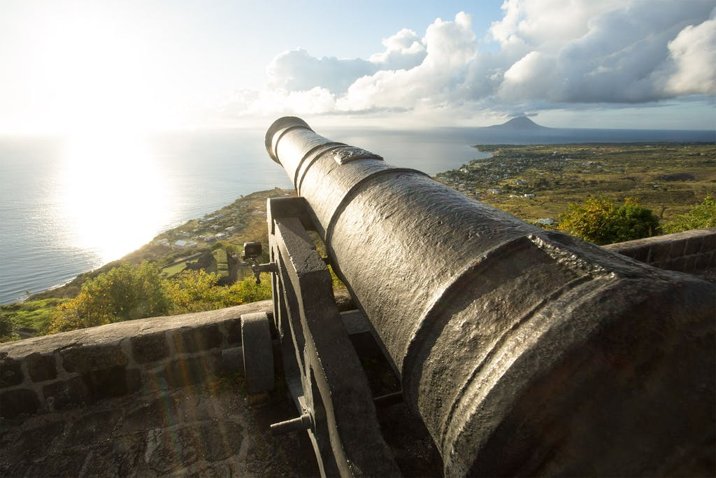 One of the cannons still to be seen at Brimstone Hill Fortress and National Park