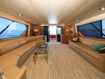 Hatteras convertible sportfish yacht for sale LADY LILA interior