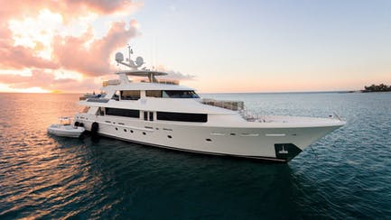 westport 130 superyacht for sale at anchor