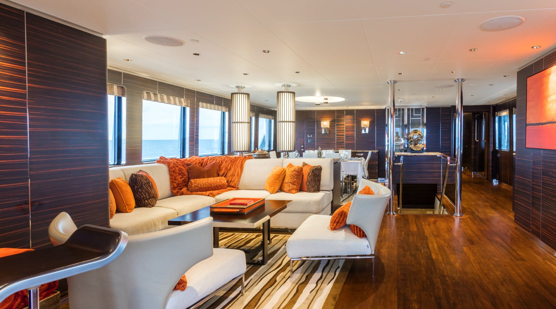 Cheoy Lee Explorer Yacht for Sale QING Interior