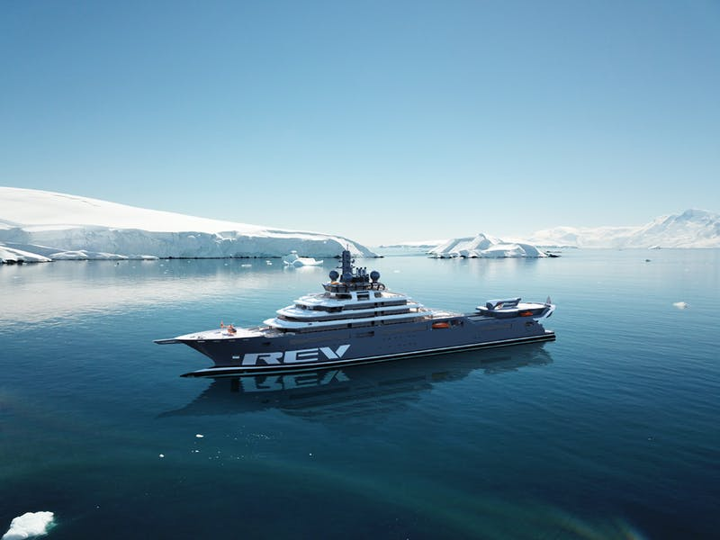 World's Largest Eco-friendly Expedition Superyacht REV Ocean