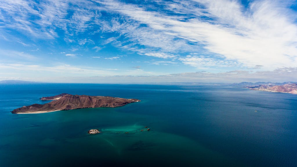 Aerial,Panoramic,Views,Of,Isla,San,Francisco,,Baja,California,Sur,