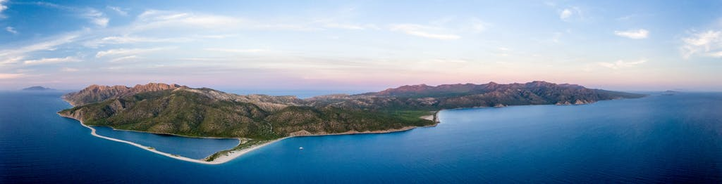 Aerial,Panoramic,Views,Of,Isla,San,Jose,,Baja,California,Sur,