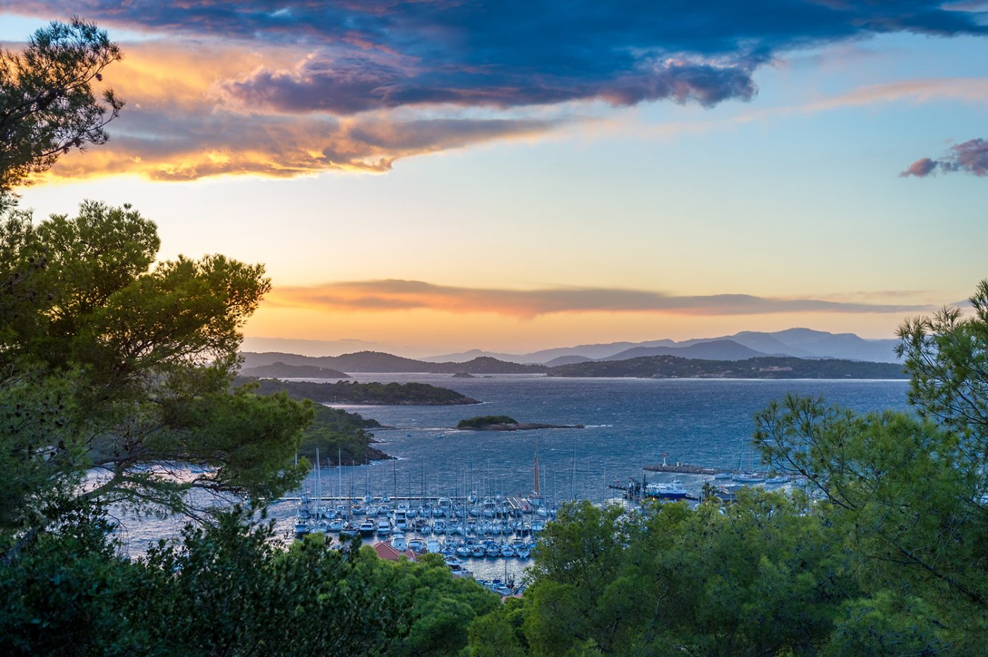 Twilight,Landscape,Of,Porquerolles,Island,,Landscape,From,The,Fortress,Viewpoint.