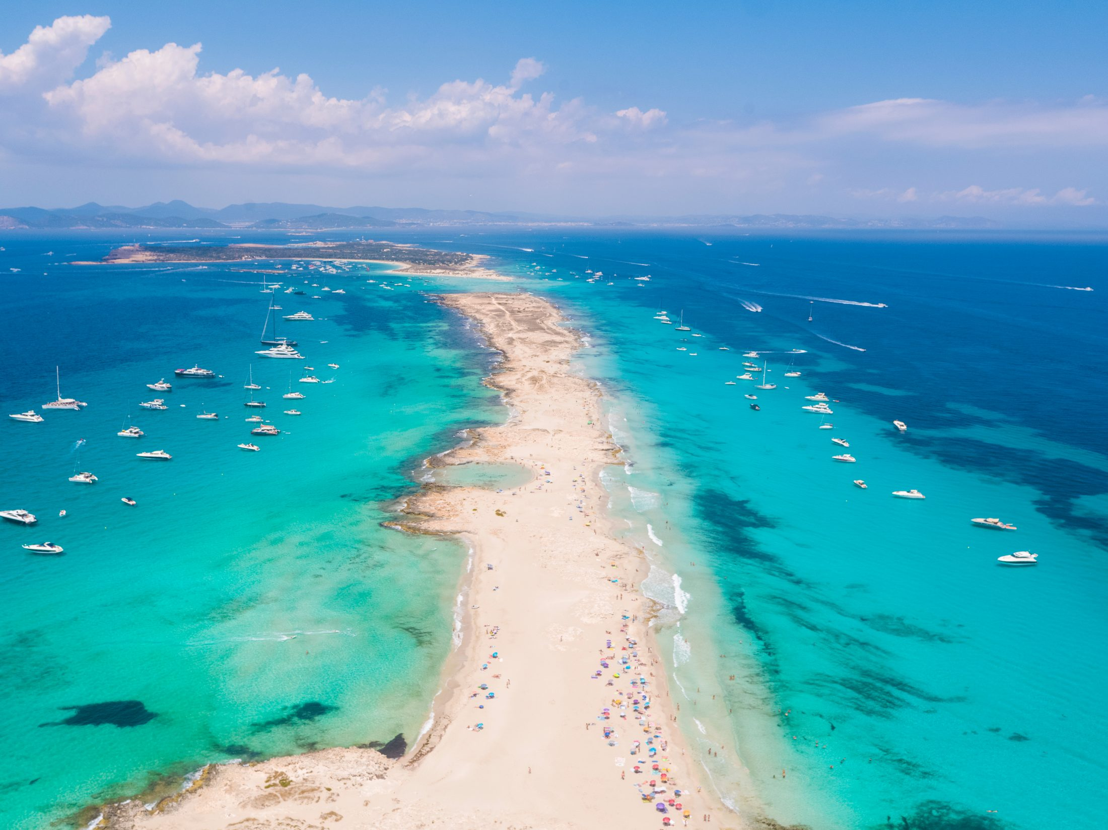 Formentera,,Drone,Flying,Over
