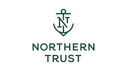 Northern Trust partner Logo with green text and anchor