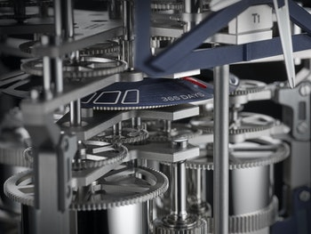 The inner working of Ulysse Nardin's UFO timepiece