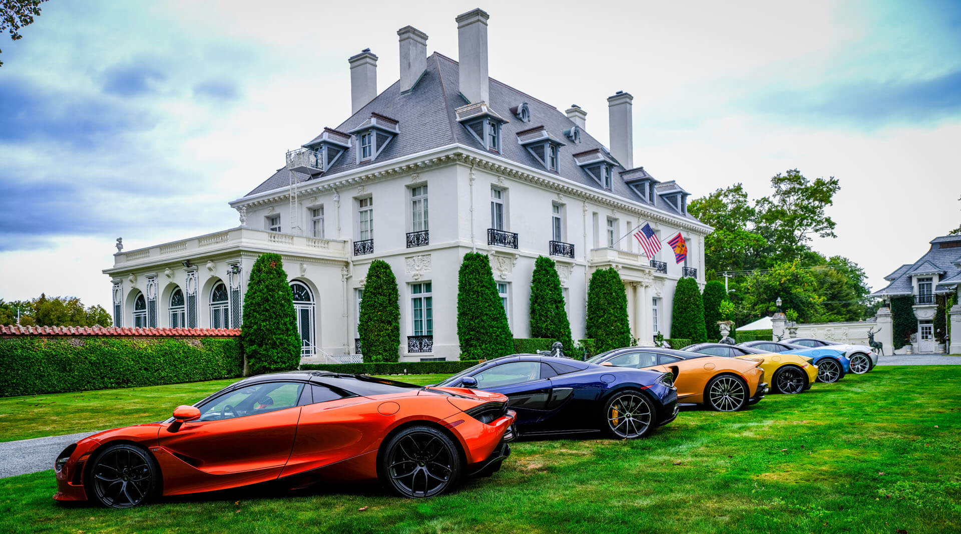 McLarens at Vernon Court during Audrain's Newport Concours Motor Week