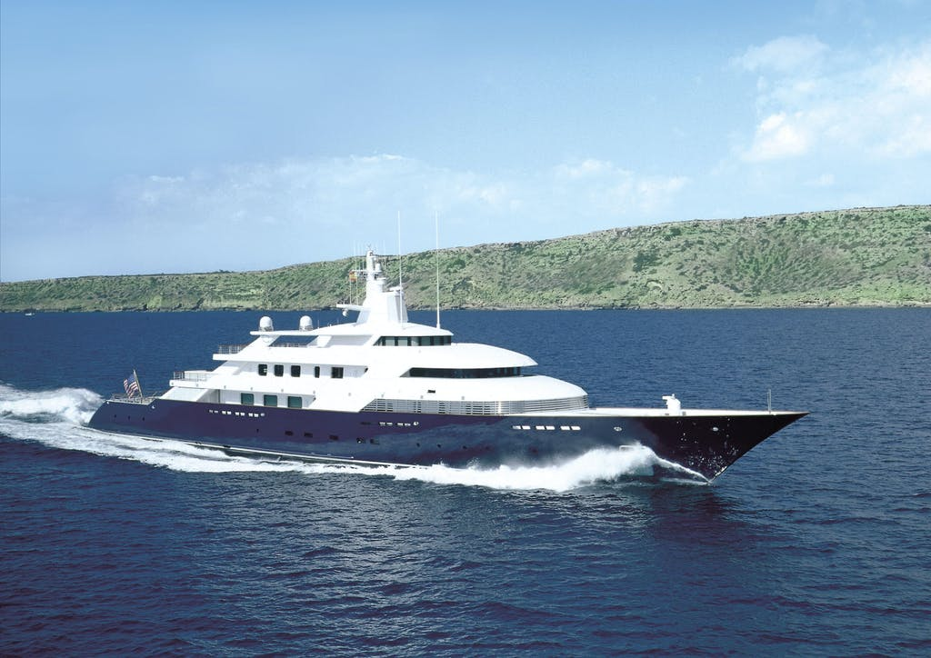 08 Launched in 1997, the 316ft (96.25m) LIMITLESS was the first hybrid propulsion motor yacht ever built