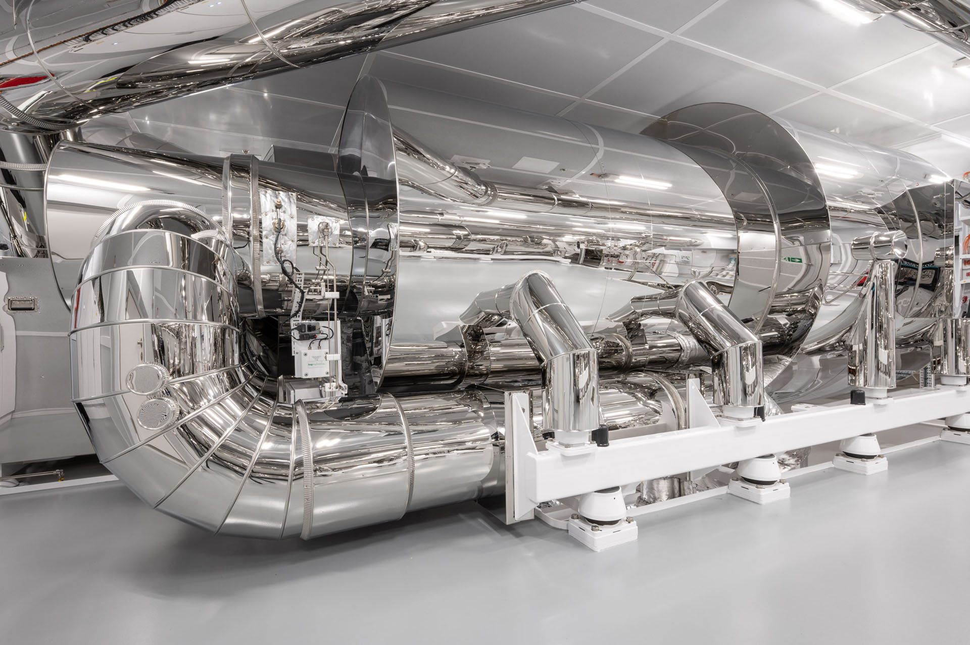 The state-of-the-art exhaust after-treatment system on board the 465ft (142m) NORD