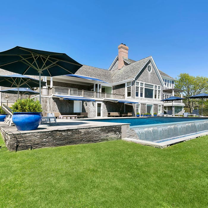 Inside a Picture-Perfect Hamptons Beach House with a Private Dock and Tennis Court