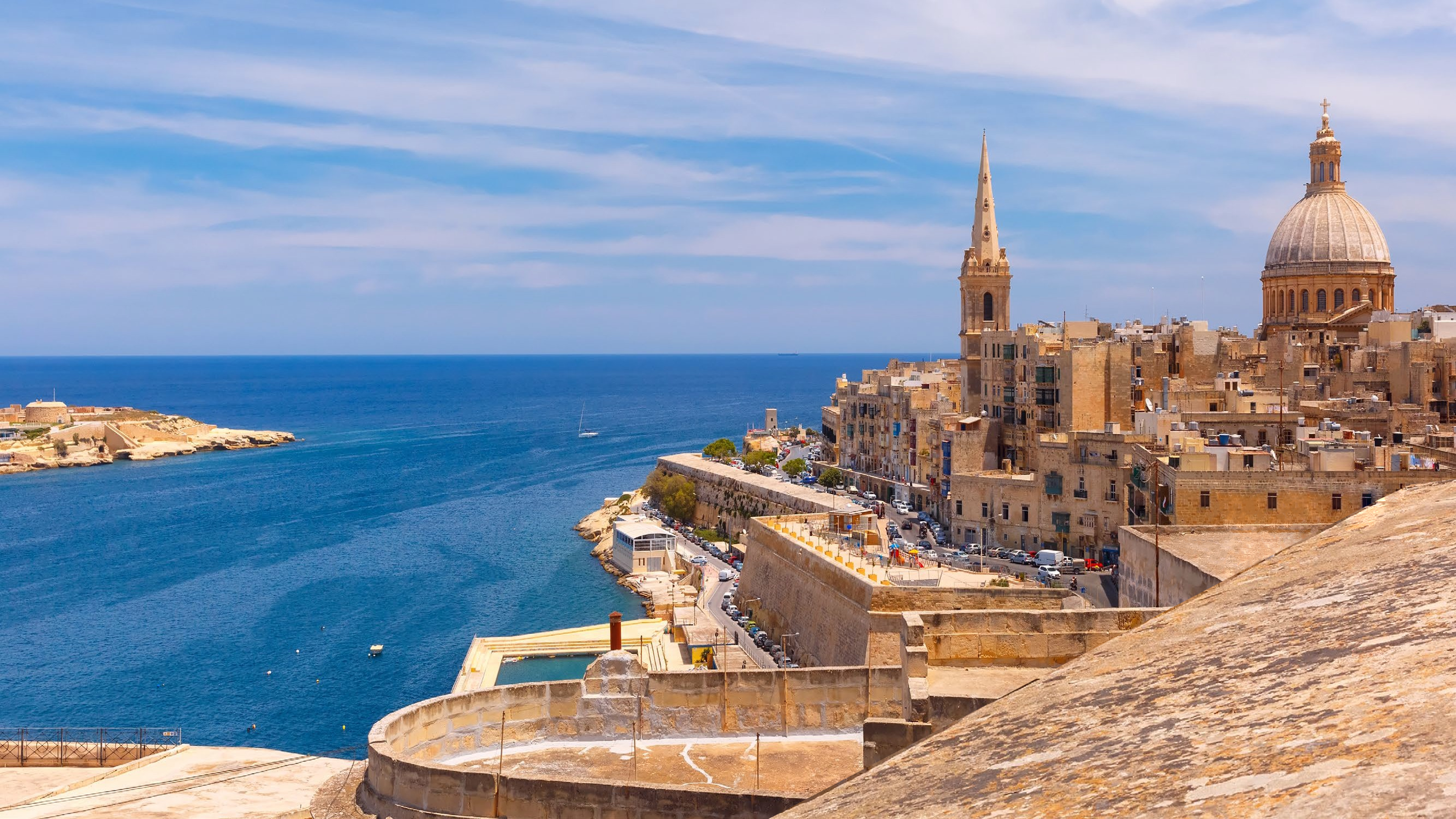 View from Valletta, Malta looking out to sea