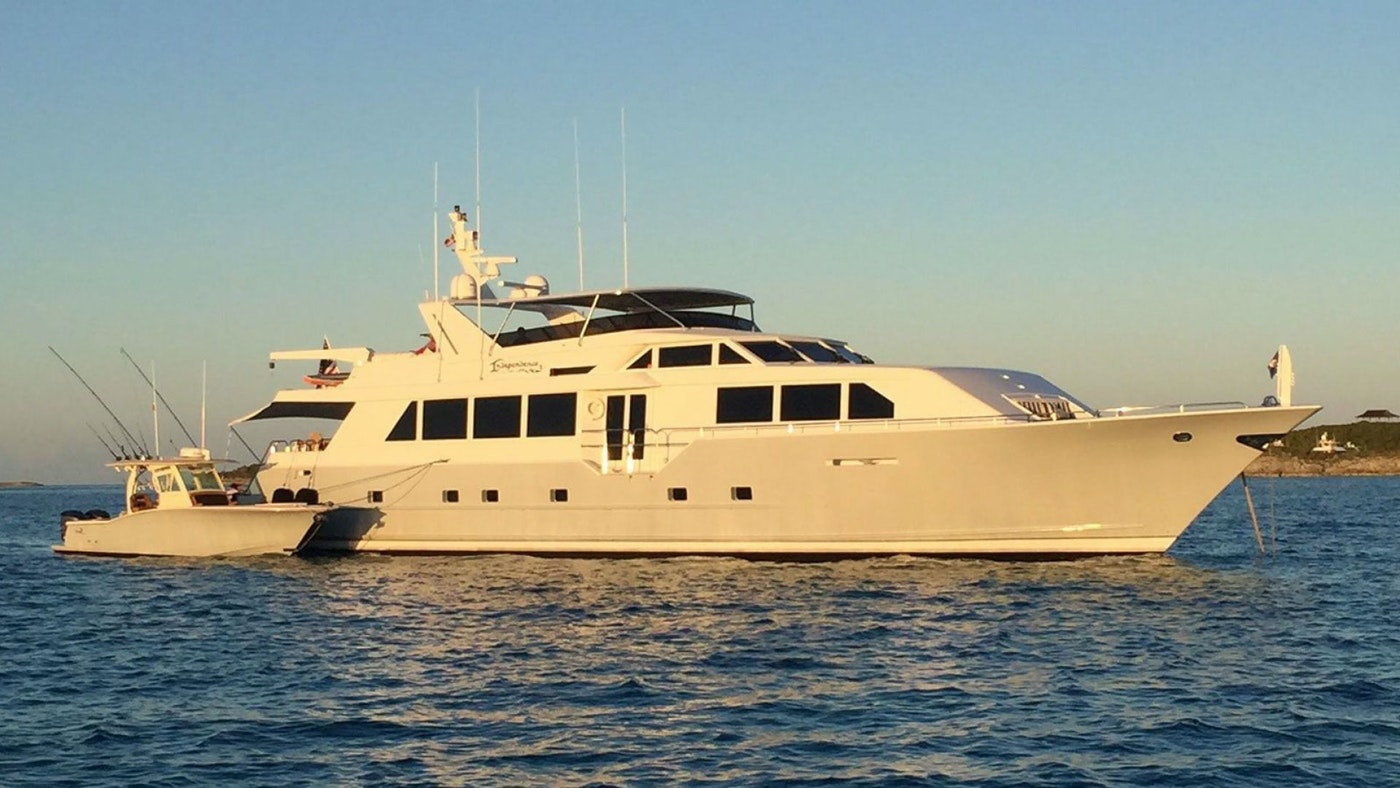 INDEPENDENCE 3 111′ (33.83m) Broward Yacht For Sale