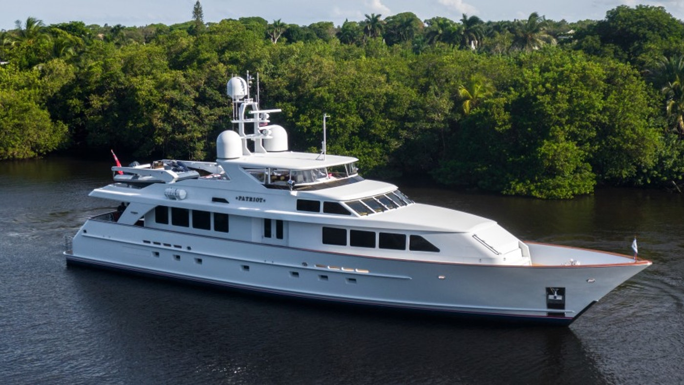 116′ (35.38m) Motor Yacht PATRIOT Now For Sale