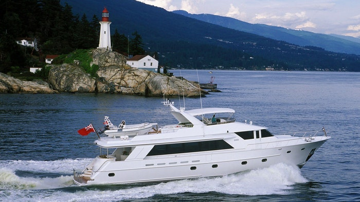 MOTOR YACHT DANCING TIDES NOW FOR SALE WITH NORTHROP & JOHNSON