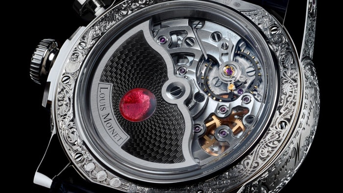 LOUIS MOINET'S RED ECLIPSE TIMEPIECE