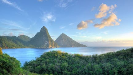 caribbean luxury yacht charter overlooking St. Lucia Pitons