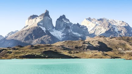 patagonia mountains from luxury yacht charter in South America
