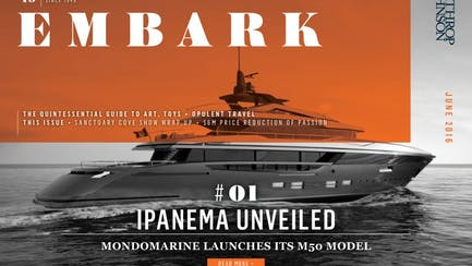 Main Embark image featuring a recently launched superyacht