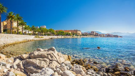 View of shoreline in Ajaccio
